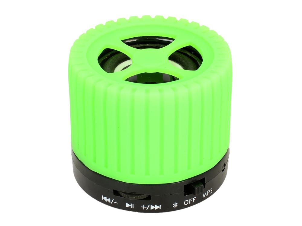 Беспроводная BT-Колонка GINZZU GM-988G, bluetooth, 3W/TFcard/AUX/FM, зеленый колонка ginzzu gm 988g