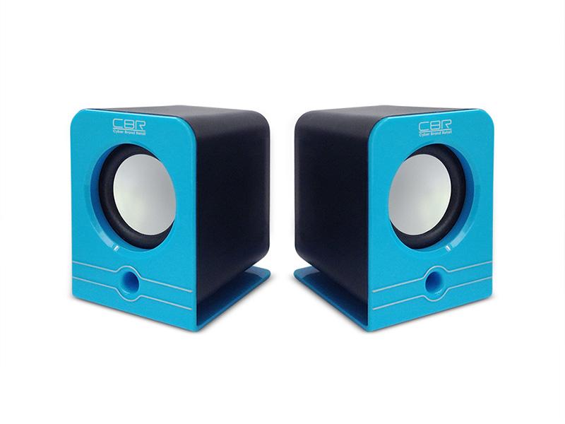 Колонки CBR CMS 303, Blue. 3W*2, USB