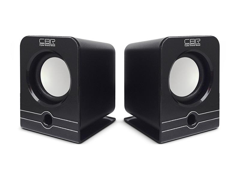 Колонки CBR CMS 303, Black, 3.0 W*2, USB