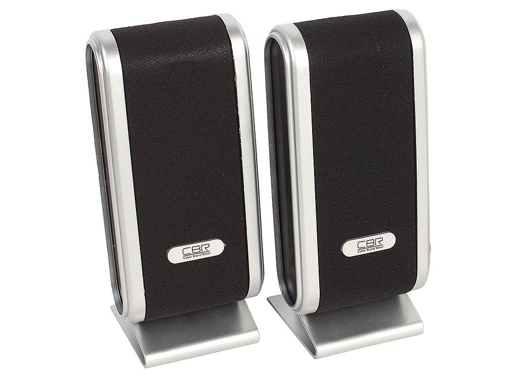 Колонки CBR CMS 299, Black-Silver, 3.0 W*2, USB