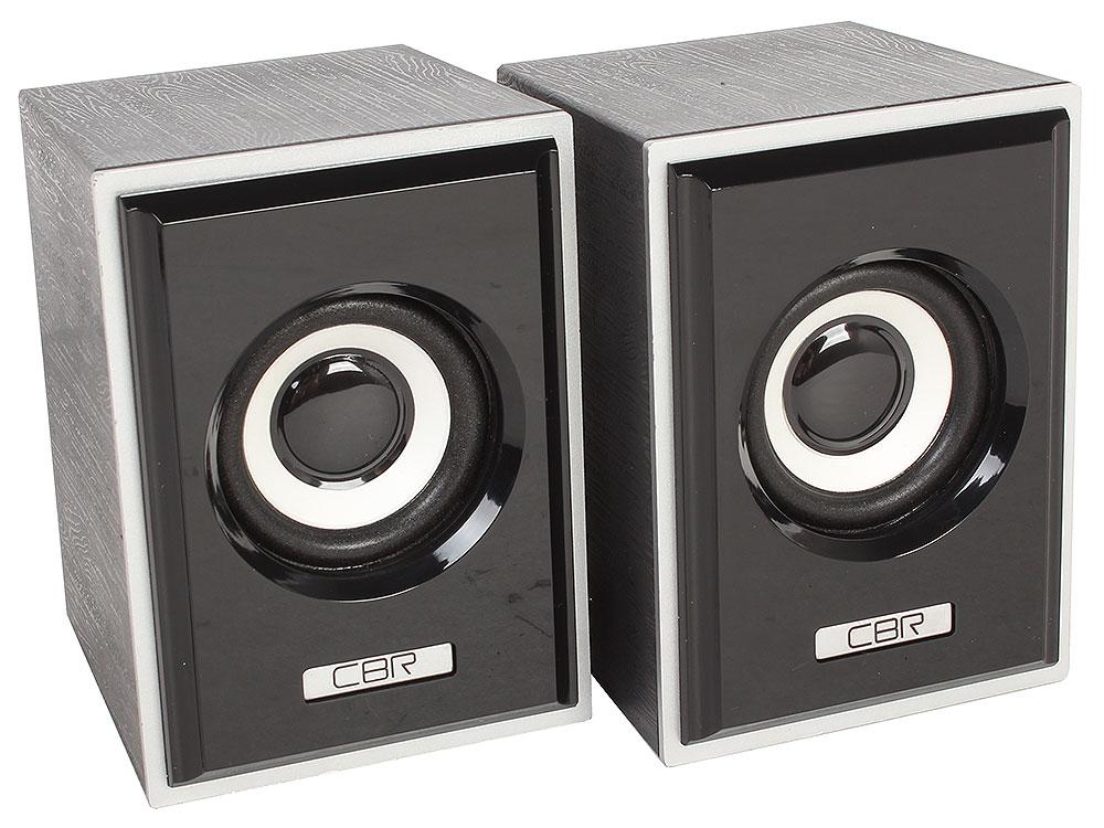 Колонки CBR CMS 408, Black-Silver, 3.0 W*2, USB