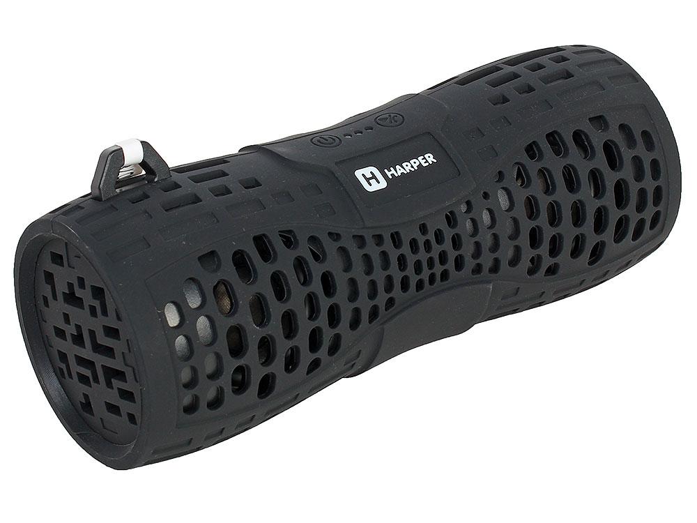 Беспроводная BT-Колонка HARPER PS-045 black (Bluetooth/Влагозащита IPX6/до 7 часов/2x3 Вт/микрофон) колонки harper беспроводная портативная колонка harper ps 045 yellow