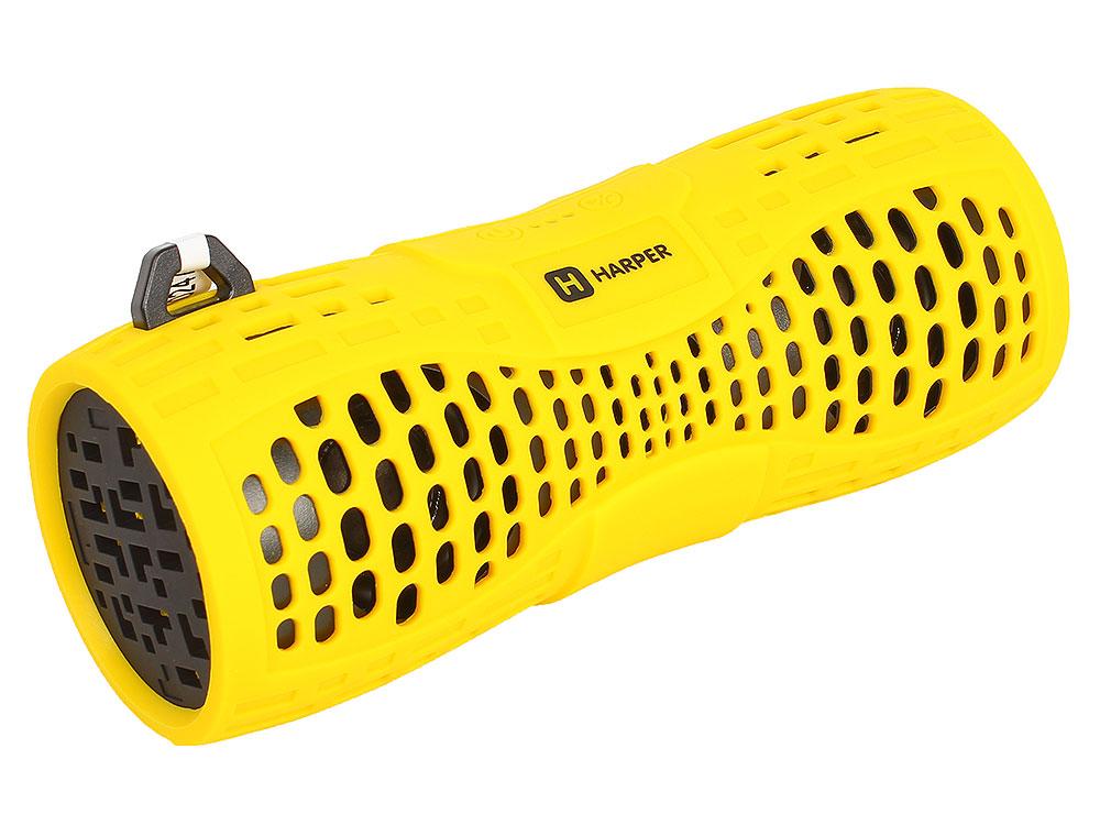 Портативная колонка HARPER PS-045 Yellow 6 Вт / Bluetooth 2.1 / Влагозащита