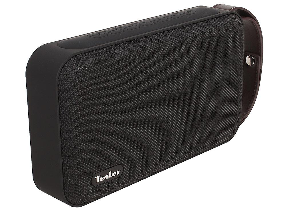 Портативная акустическая система TESLER PSS-880 Черный, Bluetooth, прорезиненный корпус, Мощность колонок 2х4,5 Вт портативная колонка tesler pss 555