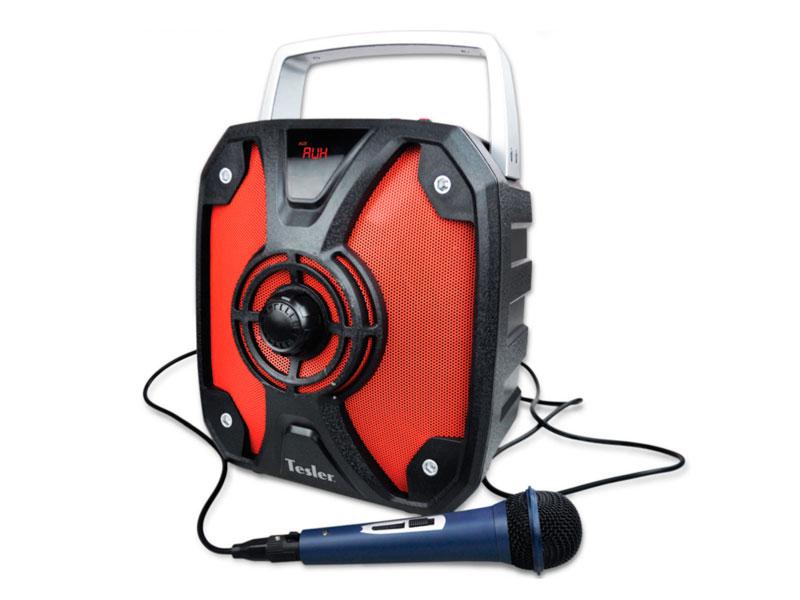 Портативная акустическая система TESLER PSS-999 Черный/Красный, дисплей, Мощность колонки 20 Вт bose companion 20 мультимедиа акустическая система компьютера колонки звук