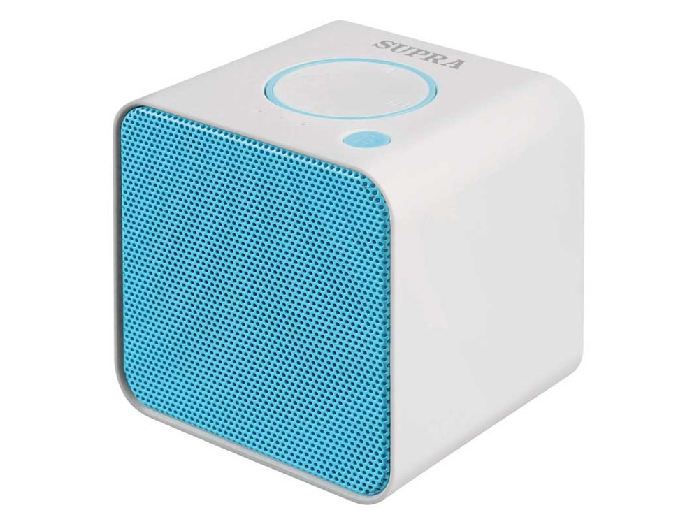 Портативная колонка Supra BTS-628, White/Blue (3 Вт, 20 - 20 000 Гц, Bluetooth, mini Jack, microSD, батарея) bts 06 water resistant bluetooth speaker w suction cup for iphone 5 blue