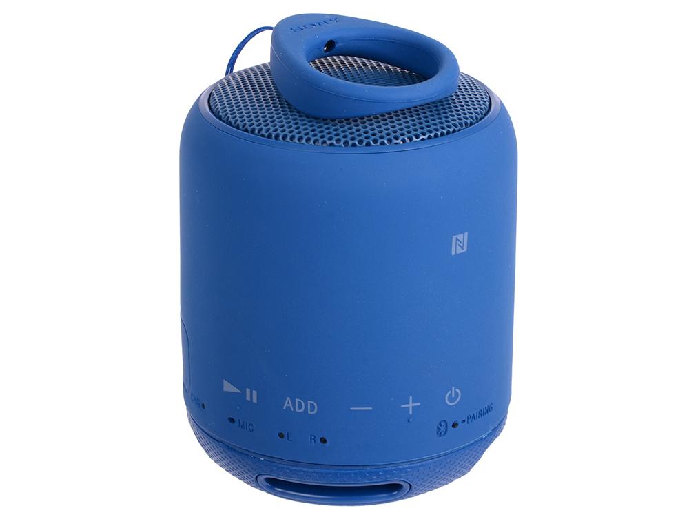 Беспроводная портативная акустика Sony SRS-XB10 (Голубая) Bluetooth, Extra Bass, Работа до 16 часов беспроводная портативная акустика sony srs xb30 красная bluetooth extra bass работа до 24 часов