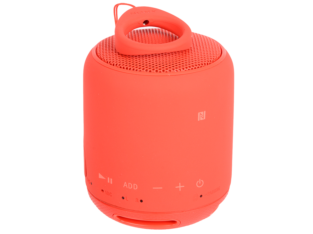 Беспроводная портативная акустика Sony SRS-XB10 (Красная) Bluetooth, Extra Bass, Работа до 16 часов беспроводная портативная акустика sony srs xb30 красная bluetooth extra bass работа до 24 часов