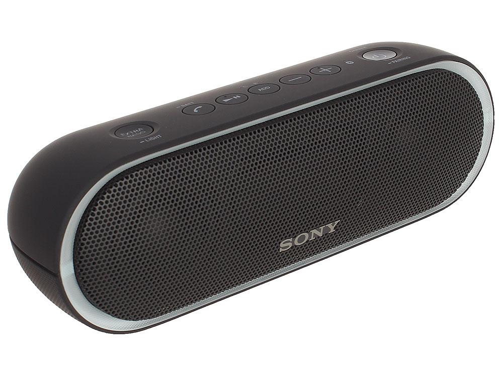 Беспроводная портативная акустика Sony SRS-XB20 (Черная) Bluetooth, Extra Bass, Работа до 12 часов беспроводная акустика sony srs x11 wc
