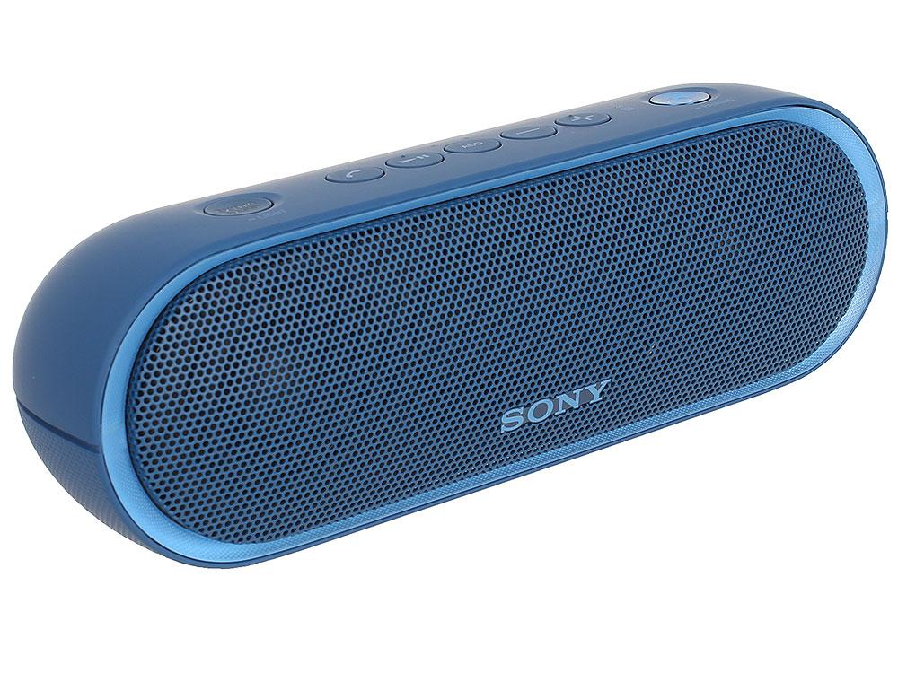 Беспроводная портативная акустика Sony SRS-XB20 (Голубая) Bluetooth, Extra Bass, Работа до 12 часов беспроводная акустика sony srs xb20 красный