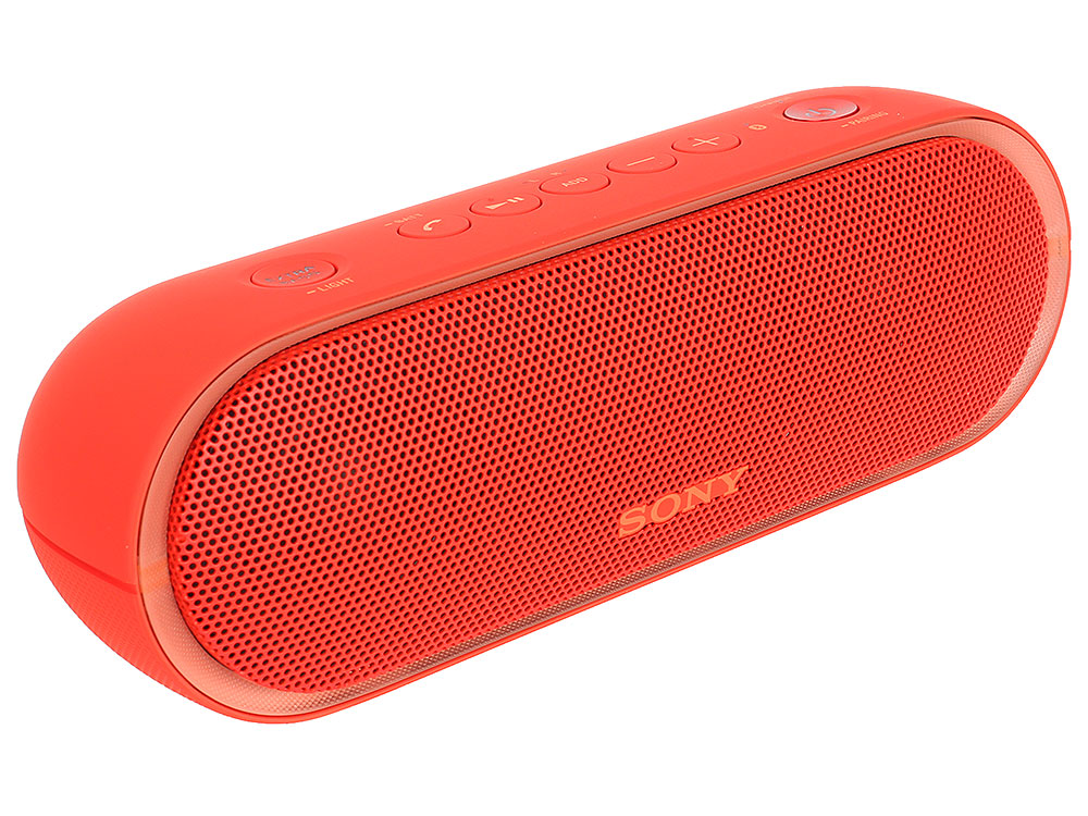 Беспроводная портативная акустика Sony SRS-XB20 (Красная) Bluetooth, Extra Bass, Работа до 12 часов беспроводная акустика sony srs xb20 красный