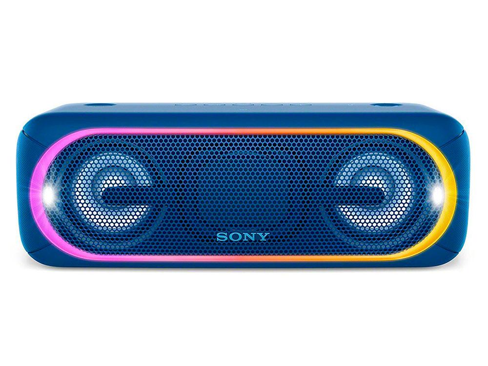 Беспроводная портативная акустика Sony SRS-XB40 (Голубая) Bluetooth, Extra Bass, Работа до 24 часов беспроводная портативная акустика sony srs xb30 красная bluetooth extra bass работа до 24 часов