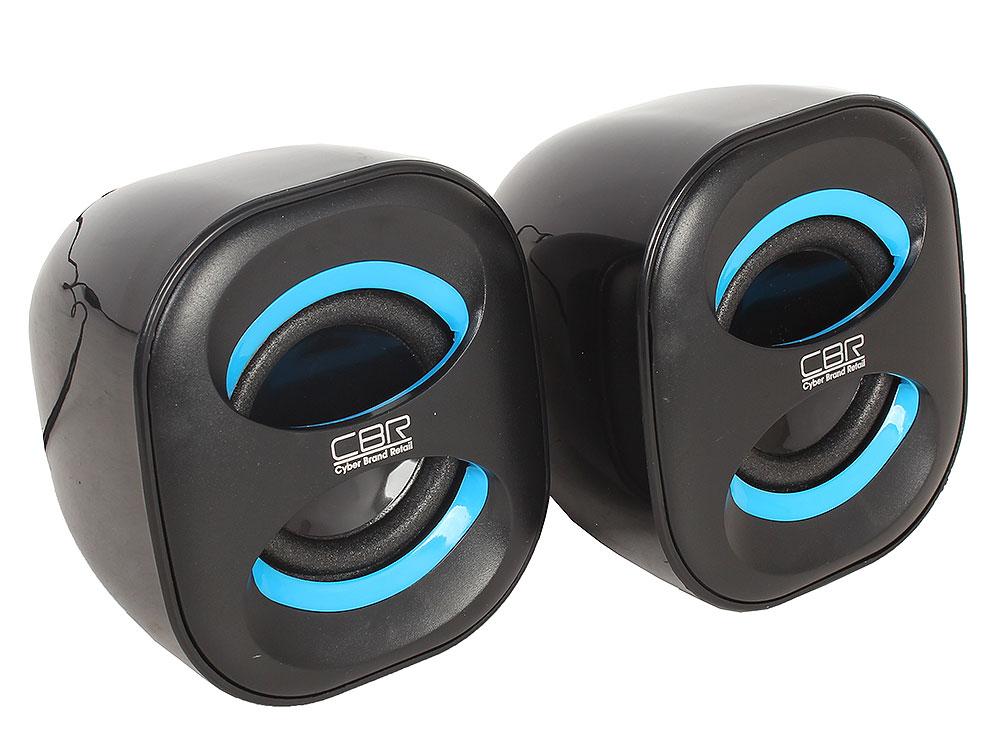 Колонки CBR CMS 333, Black (6 Вт, 90 - 20 000 Гц, mini Jack, USB)