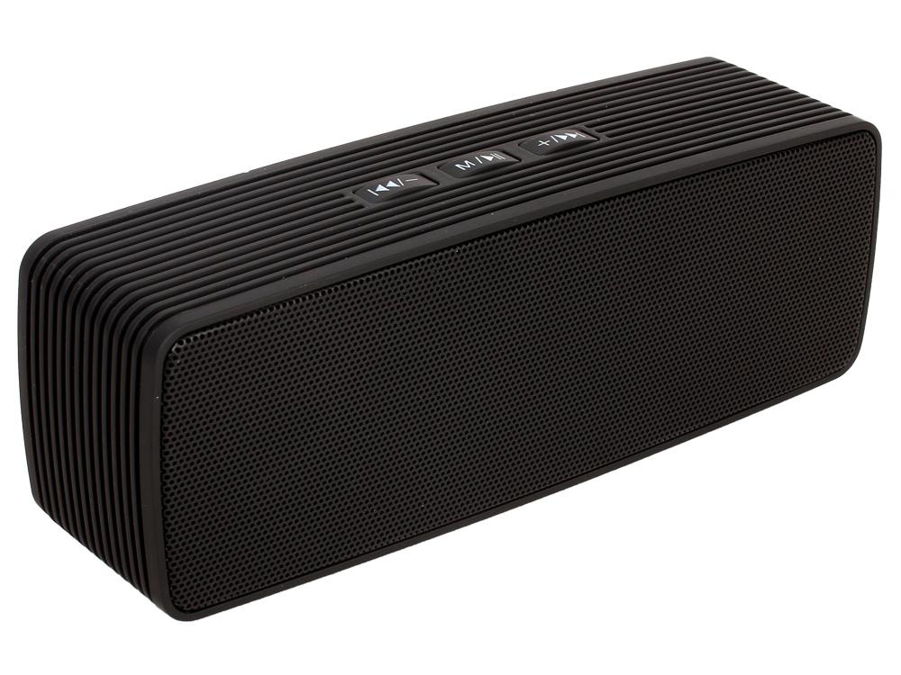 Портативная колонка GiNZZU GM-875B Black (6 Вт, 140 - 18 000 кГц, Bluetooth, FM, mini Jack, USB, microSD, батарея) mini cylinder shaped bluetooth v2 0 speaker w fm tf mini usb usb purple black