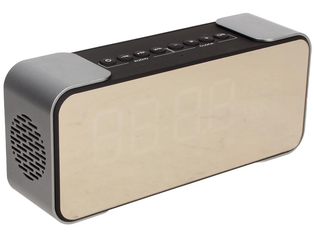 Портативная колонка GiNZZU GM-884B, Brown 10 Вт, 80 - 18 000 кГц, Bluetooth, FM, mini Jack, USB, microSD, батарея портативная колонка cbr cms 144bt black silver 6 вт 80 18 000 гц bluetooth mini jack usb micro sd батарея