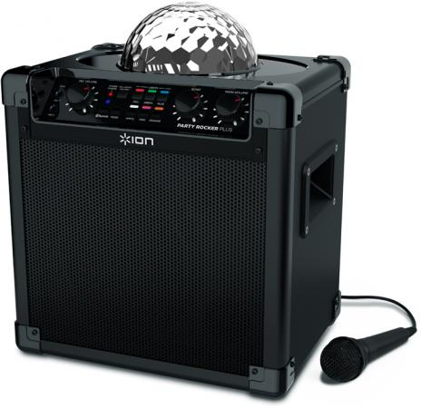 Портативная колонка ION Audio Party Rocker Plus Black 50 Вт, микрофон, Bluetooth, NFC, mini Jack, батарея, USB lx b3503 bluetooth v3 0 wireless audio receiver black