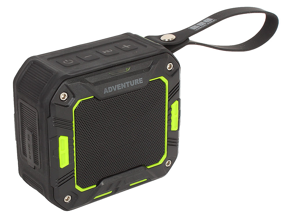 Портативная колонка CW Adventure Box, Black/Green (138252) (5 Вт, 160 - 20 000 Гц, Bluetooth, mini Jack, USB, батарея) портативная колонка dreamwave harmony ii black 16 вт 80–18000 гц микрофон bluetooth mini jack батарея usb