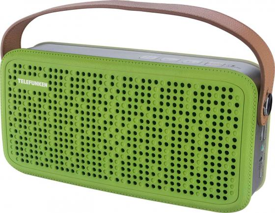 Портативная колонка Telefunken TF-PS1230B Green Brown 2 х 4 Вт, Bluetooth, SD, USB колонка recci bluetooth travel rbs d1 green