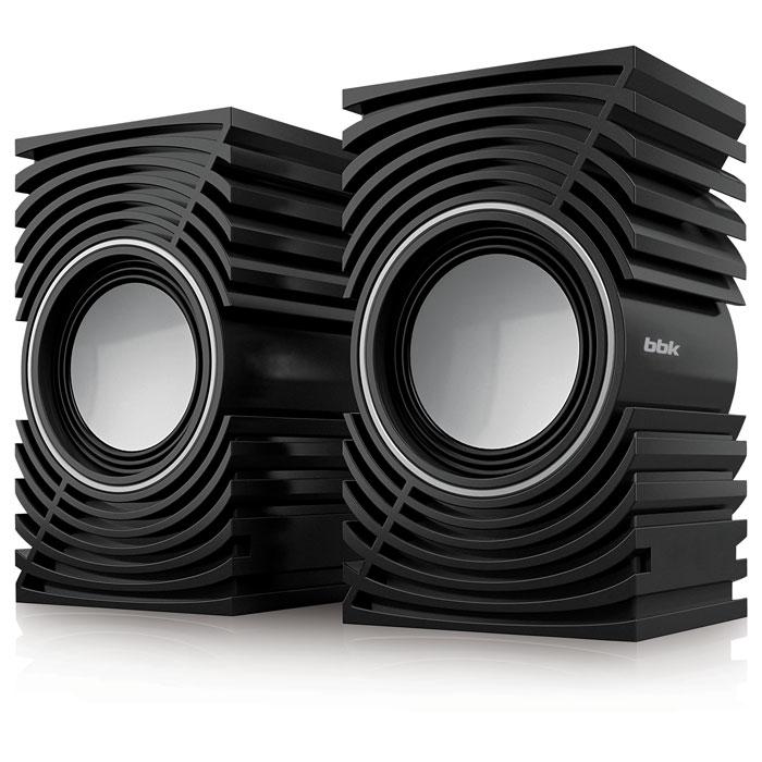 Колонки BBK CA-197S 2x2.5 Вт черный цены онлайн