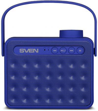 Портативная колонка SVEN АС PS-72 Blue 6Вт, 150 – 20 000 Гц, Bluetooth, FM, USB, microSD