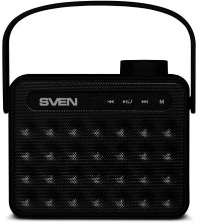 Портативная колонка SVEN АС PS-72 Black 2.0, 6Вт, 150 – 20 000 Гц, Bluetooth, FM, USB, microSD цена
