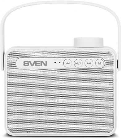 Портативная колонка SVEN АС PS-72 White 2.0, 6Вт, 150 – 20 000 Гц, Bluetooth, FM, USB, microSD портативная колонка tdk a12 white