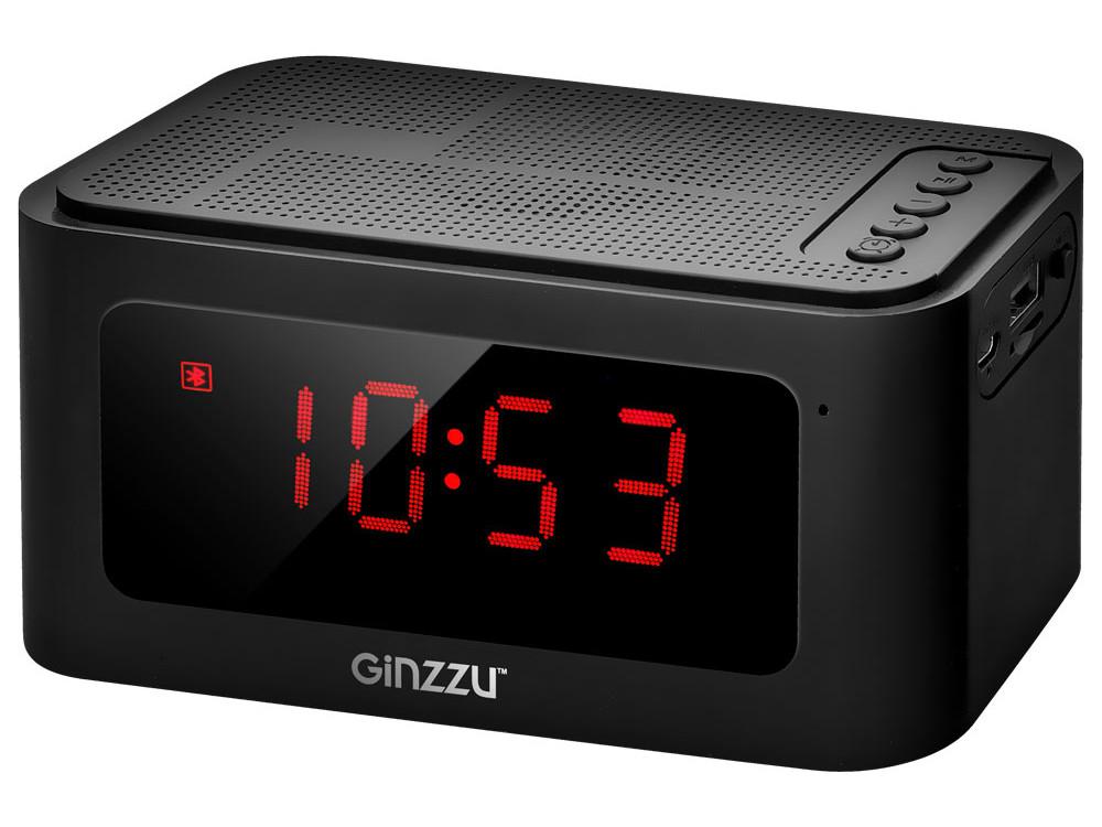 Беспроводная BT-Колонка GINZZU GM-881B, BT-Колонка 3W/LCD/USB/TF/AUX/FM/часы/будильник беспроводная bt колонка ginzzu gm 899b bluetooth 2x3w 4ah usb tf aux fm цветомузыка