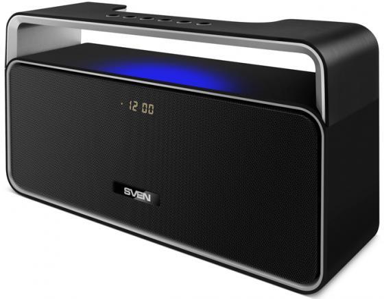Портативная колонка Sven PS-185 Black 10 Вт, 100 - 22000 Гц, FM, Bluetooth, USB, microSD колонка sven ps 68 black