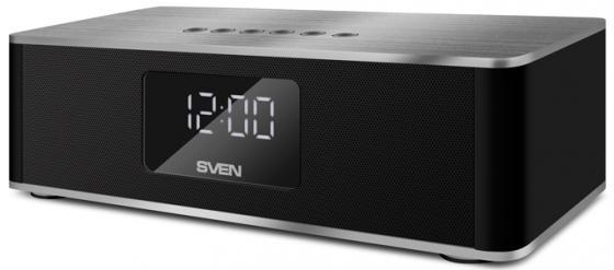 Портативная акустика Sven PS-190 10Вт Bluetooth черный серебристый портативная акустика sven ps 190 10вт bluetooth черный серебристый