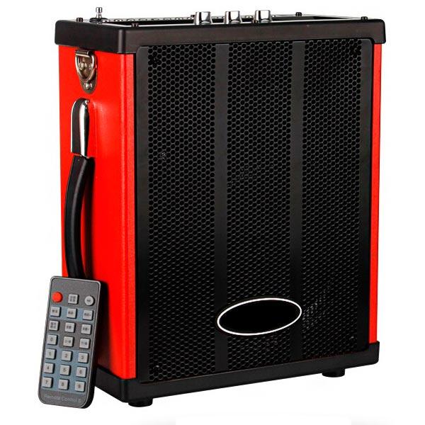 Портативная колонка MAX Q71, Black/Red (30054) (20 Вт, 100 - 18000 Гц, Bluetooth, mini Jack, Jack, USB, Micro SD, батарея) портативная колонка ritmix sp 274b black