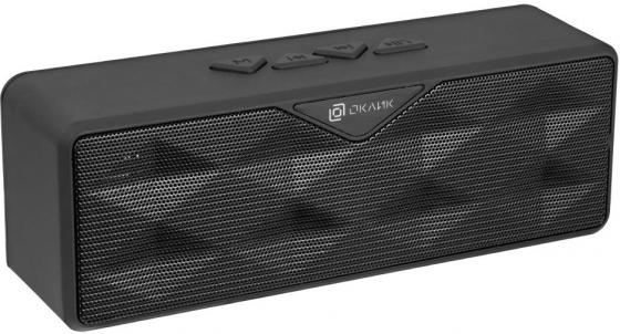 Портативная колонка Oklick OK-30 Black 2 x 3 Вт, микрофон, Bluetooth, mini Jack, батарея, USB ultra mini bluetooth csr 4 0 usb dongle adapter black golden