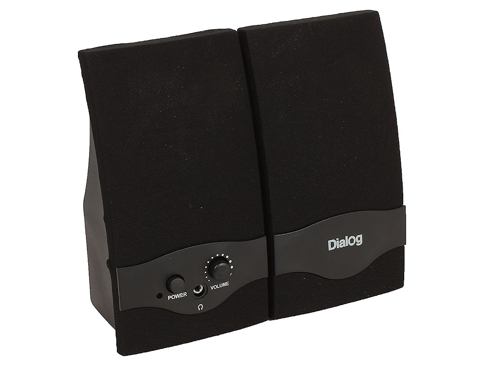 Колонки Dialog Colibri AC-22UP 2.0, Black (2 Вт, 300 - 20 000, mini Jack, Jack, от USB) компьютерная акустика dialog ac 04up черный оранжевый ac 04up black orange