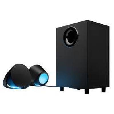 Колонки Logitech LIGHTSYNC PC Gaming Speakers G560 Black 2.1, 40-18000 Гц, RCA, MDF, 220V колонки sven mc 10 2 0 black 2х25 вт 45 27000 гц bluetooth пульт ду rca microsd mini jack mdf usb 220v