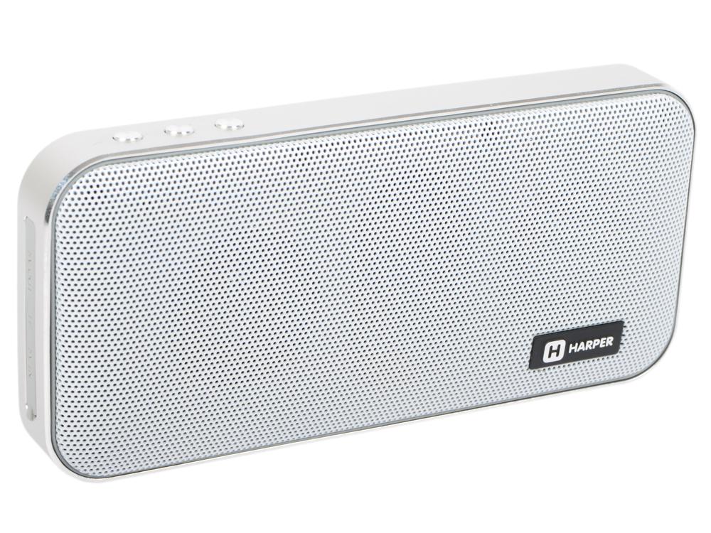 Портативная колонка HARPER PSPB-200 White Беспроводная акустика / 2 x 5 Вт / 180 - 18000 Гц / Bluetooth 4.2 / microSD bluetooth fingertip pulse oximeter orange white 2 x aaa