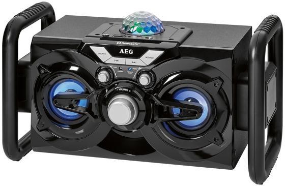 Портативная колонка AEG EC 4844 Black Bluetooth, mini Jack, батарея, USB mini cylinder shaped bluetooth v2 0 speaker w fm tf mini usb usb purple black