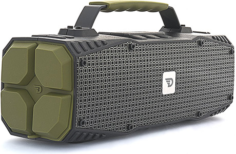 Портативная колонка DREAMWAVE Survivor green 30 Вт, 50–18000 Гц, микрофон, Bluetooth, NFC, IPX5, mini Jack, батарея, USB портативная колонка max q71 black red 30054 20 вт 100 18000 гц bluetooth mini jack jack usb micro sd батарея