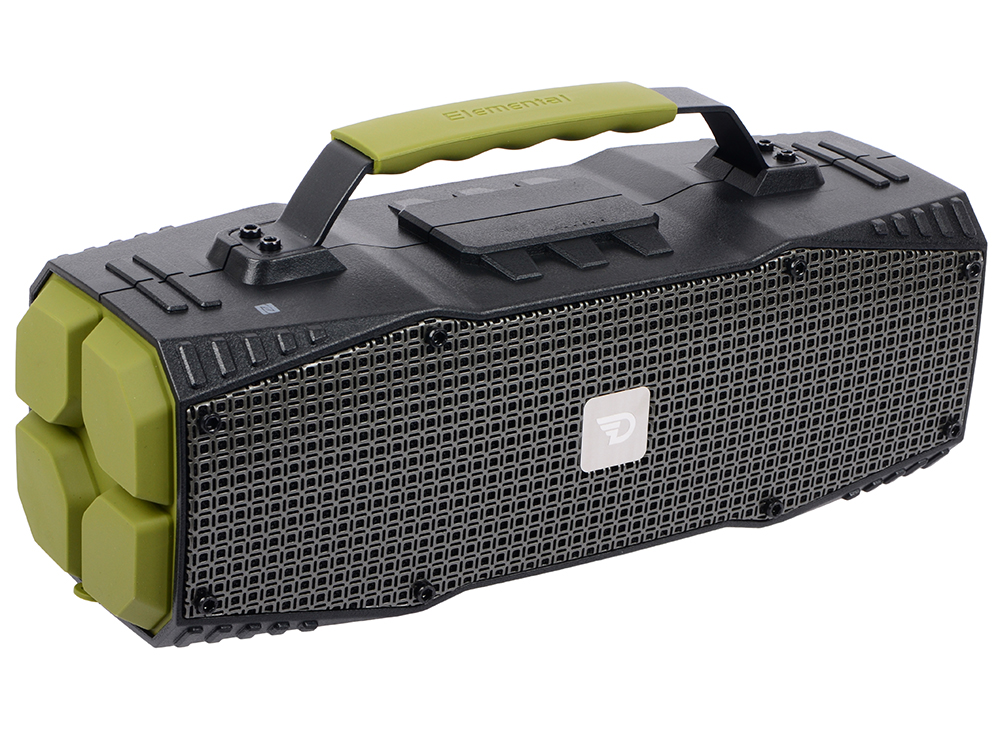 Портативная колонка DREAMWAVE Survivor green 30 Вт, 50–18000 Гц, микрофон, Bluetooth, NFC, IPX5, mini Jack, батарея, USB