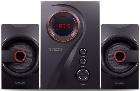 Ginzzu GM-406 2.1 с Bluetooth, выходная мощность 20Вт + 2х10Вт, аудиоплеер USB-flash, SD-card, FM-ра