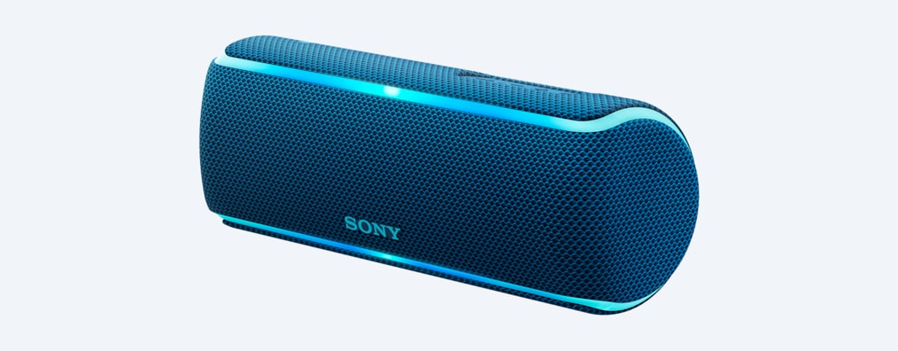все цены на Беспроводная портативная акустика Sony SRS-XB21 Синий Bluetooth /4.2, NFC, micro USB, Стереофонический мини-разъем, Extra BASS, Party Booster, LIVE
