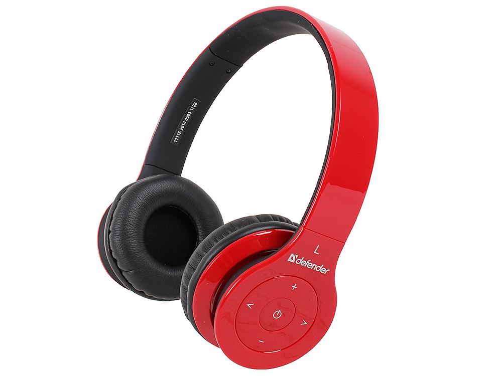 Гарнитура Defender FreeMotion B703 Bluetooth, до 10 м, красный