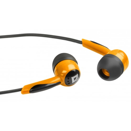 Наушники Defender Basic-604 Orange кабель 1,1 м кабель