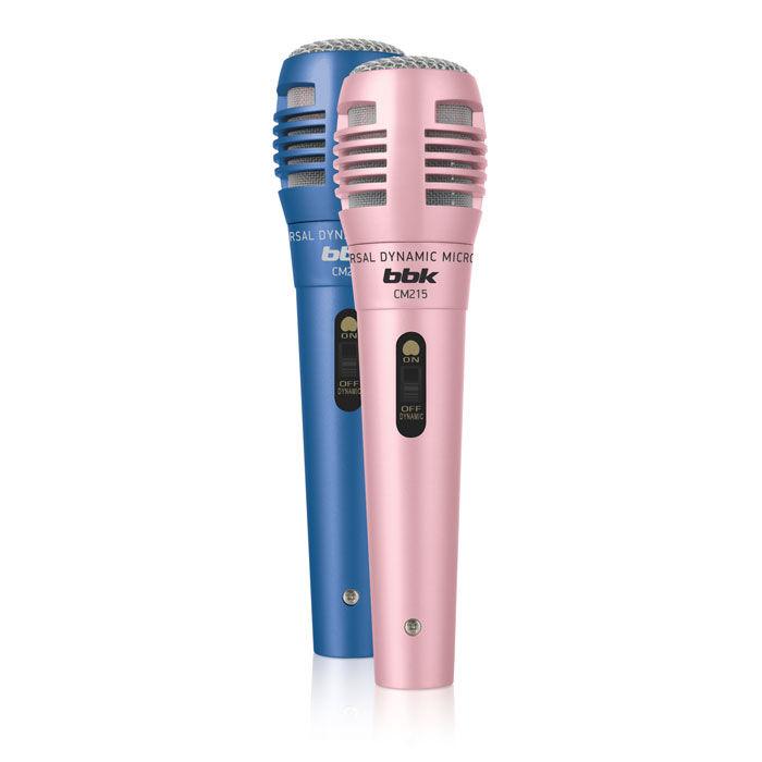 Микрофон BBK CM215 Розовый/Синий микрофон bbk cm215 blue pink