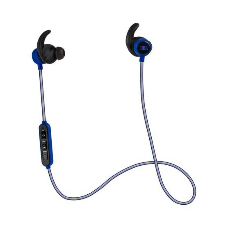 Наушники (гарнитура) JBL Reflect Mini BT Blue Беспроводные / Внутриканальные с микрофоном / Синий / 10 Гц - 22 кГц / 95 дБ / до 8 ч / Bluetooth, Micro-USB гарнитура jbl c100si red