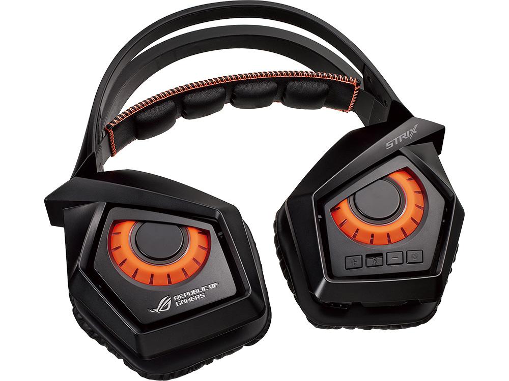 Наушники (гарнитура) ROG Strix Wireless Беспроводные, проводные / Полноразмерные с микрофоном / Черный / 20 Гц - 20 кГц / 98 дБ / Одностороннее / до 10 ч / Рад