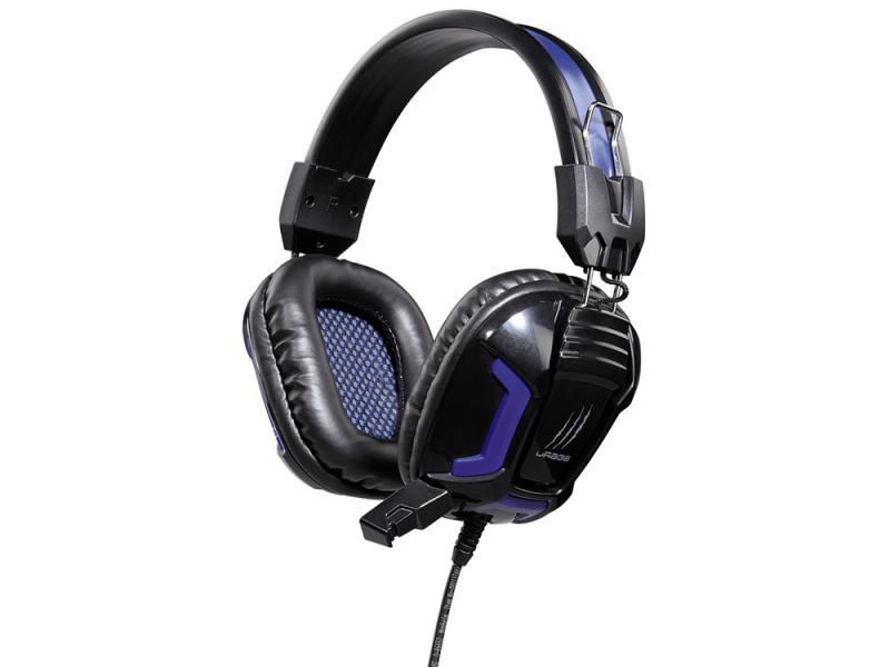 Наушники (гарнитура) Hama uRage SoundZ Essential H-113744 Проводные / Полноразмерные с микрофоном / Черный-фиолетовый / 20 Гц - 20 кГц / 111 дБ / Одностороннее / Mini- цена