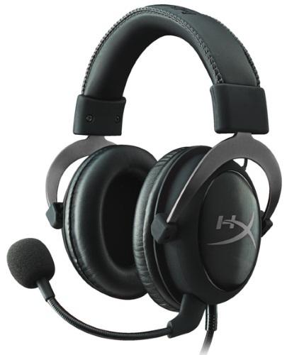 Гарнитура HyperX Cloud II (KHX-HSCP-GM) Black Silver Проводные / Накладные с микрофоном / Черный-серебристый / 15 Гц - 25 кГц / 98 дБ / Mini-jack, USB / 3.5 мм kingston hyperx cloud ii red khx hscp rd