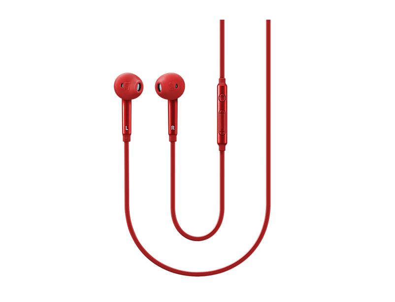 Гарнитура проводная Samsung EO-EG920L 3.5мм красный наушники внутриканальные samsung eo eg920l black eo eg920lbegru