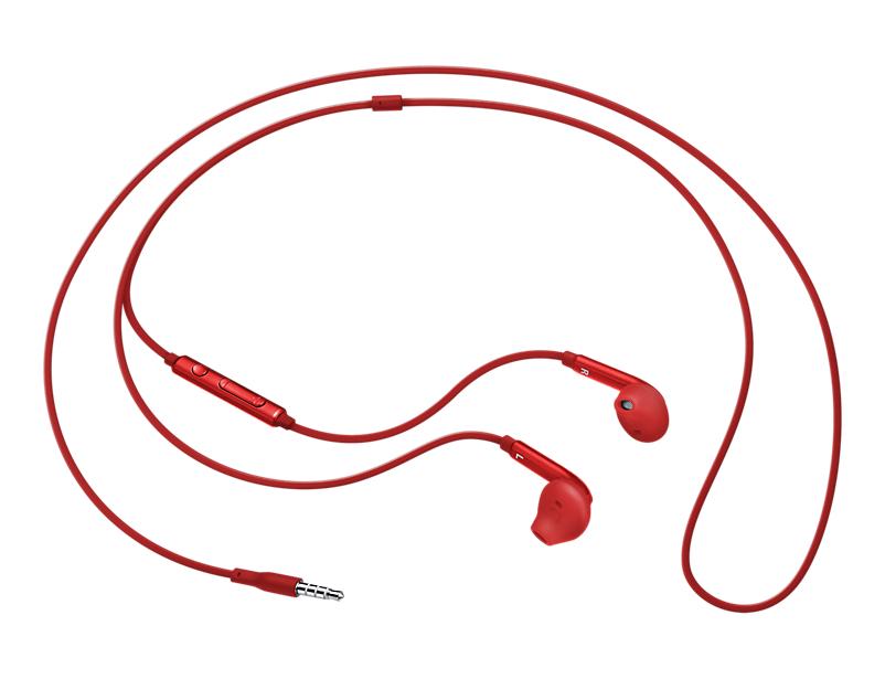 Гарнитура проводная Samsung EO-EG920L 3.5мм красный