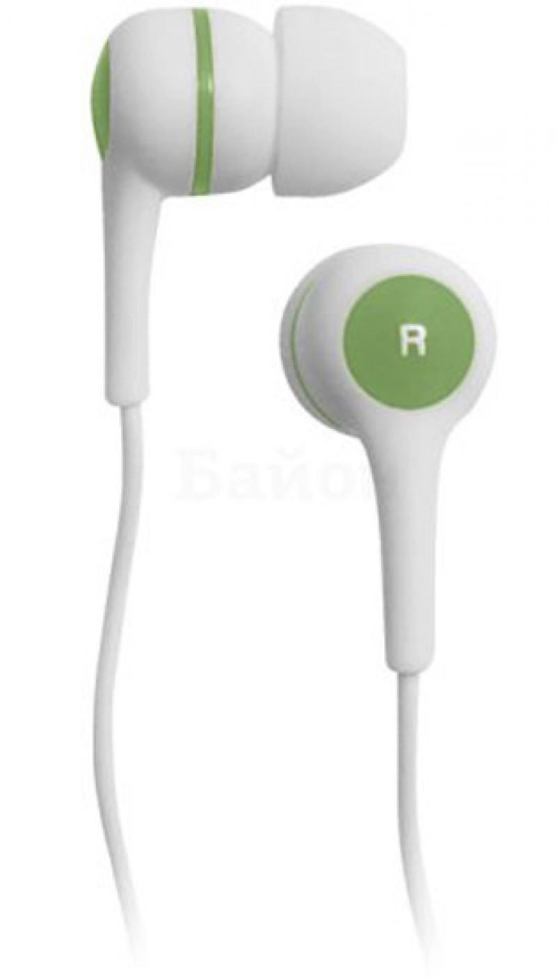 Наушники BBK EP-1260S бело-зеленый