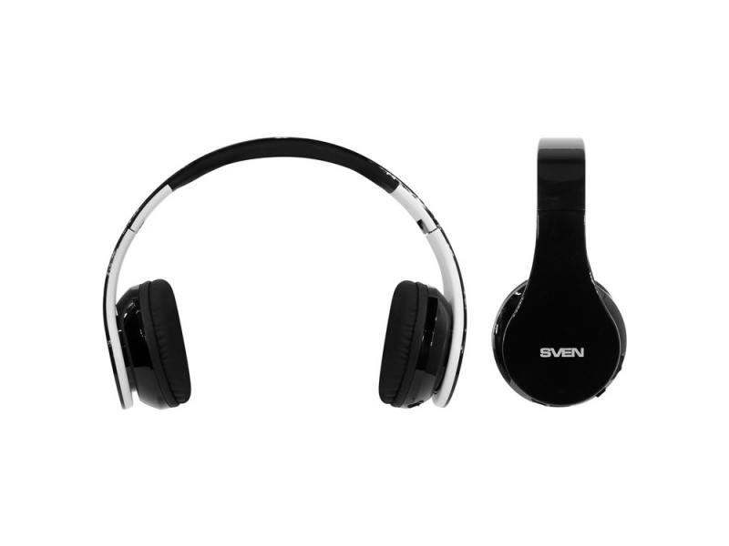 Bluetooth-гарнитура Sven AP-B450MV черный белый ovann x4 гарнитура гарнитура гарнитура гарнитура гарнитура гарнитура с микрофоном черный и красный